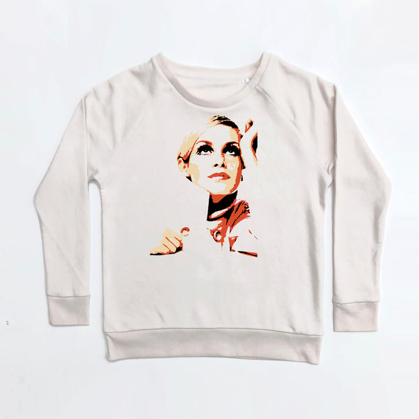 Daydream Believer Ladies Sweatshirt  Loose Fit Vintage White