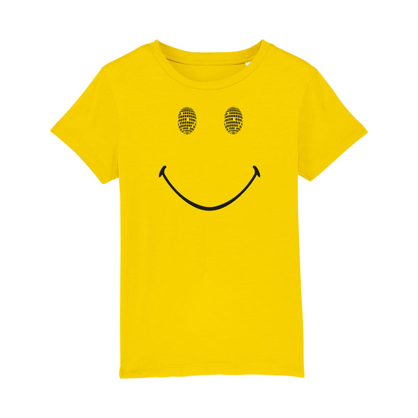 Disco Smile Kids Tshirt Yellow