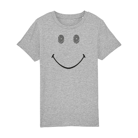 Disco Smile Kids Tshirt Marl Grey