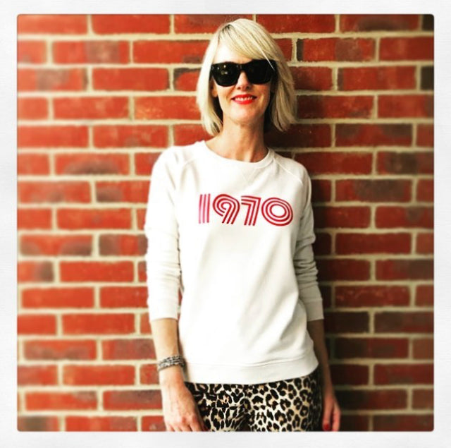 1970 Ladies Sweatshirt Vintage White