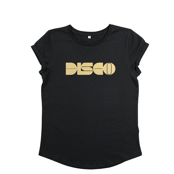 DISCO Black / Gold Ladies T-shirt