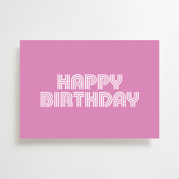 Happy Birthday Greetings Card Purple