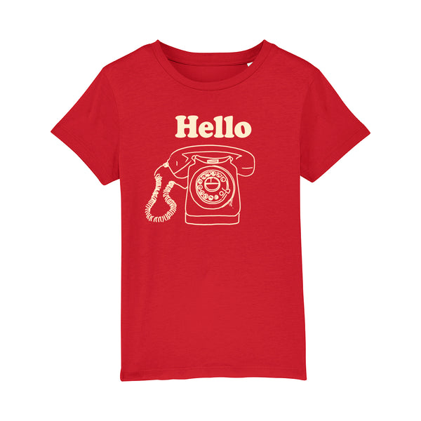 Hello Kids Tshirt Red
