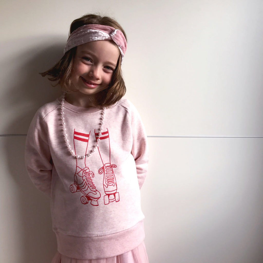 Roller Disco Sweatshirt Pink Kids xx 7-8 yrs left xx