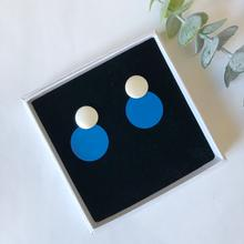 Matte Blue Disc Earrings Jack & Freda