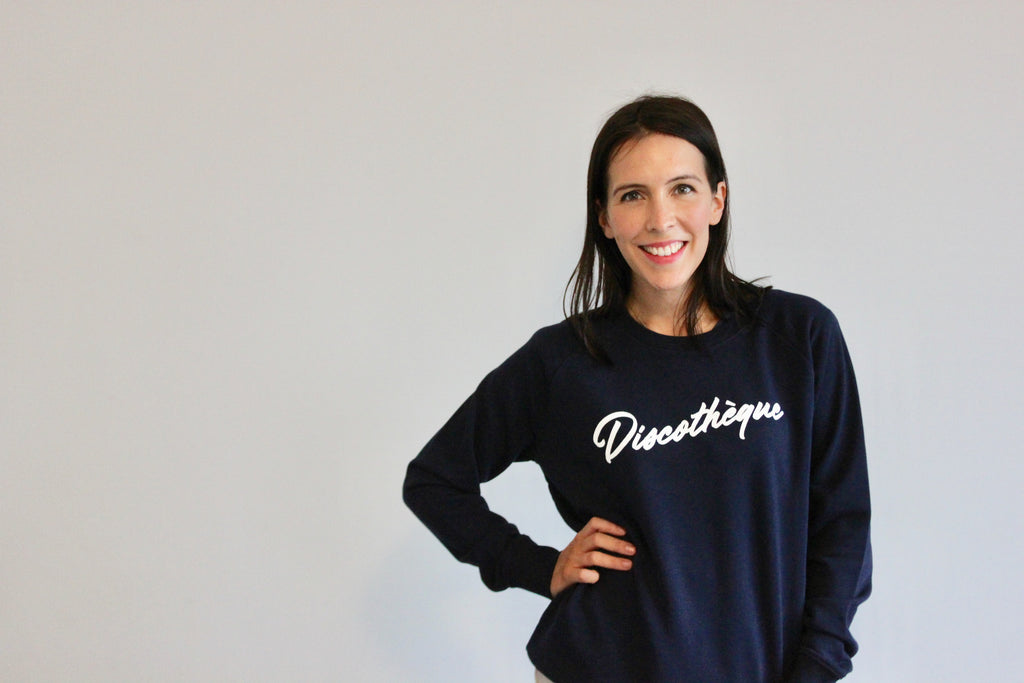 Discothèque Navy Ladies Sweatshirt
