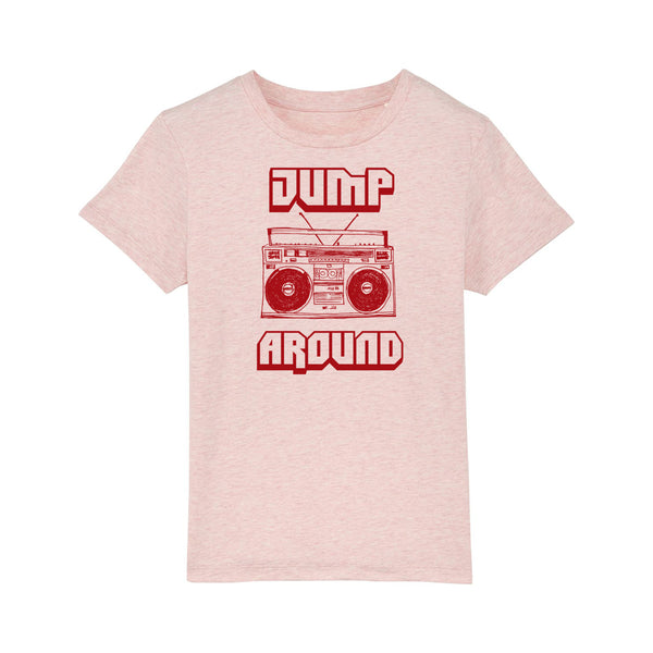 Jump Around Kids Tshirt Pale Pink