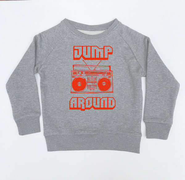 Jump Around Kids Sweatshirt Marl Grey