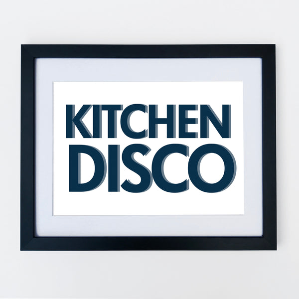 Kitchen Disco Plain Navy Print