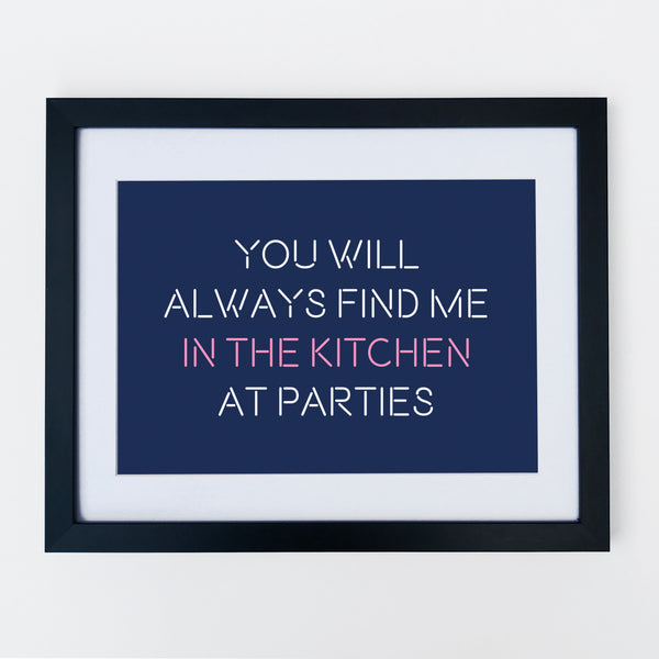 Kitchen Party Print Navy