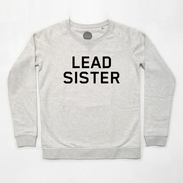Lead Sister Ladies Sweatshirt Cream Marl