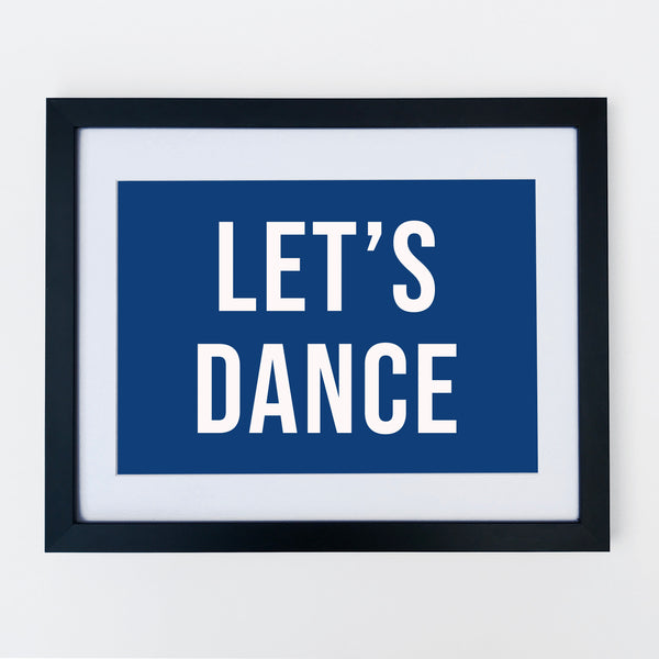 Lets Dance Print Navy *A3 size left