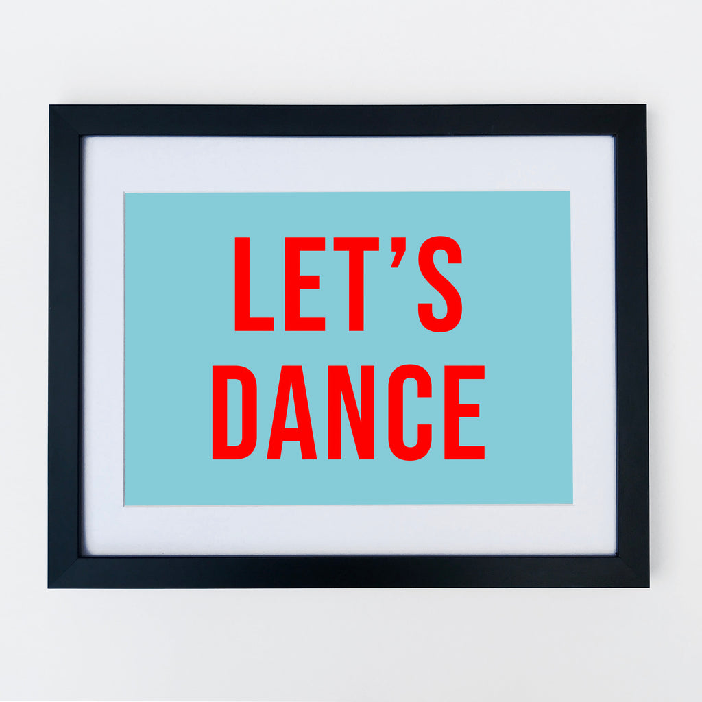 Lets Dance Print Turquoise