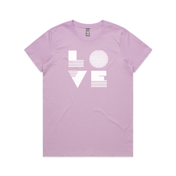 Love Is Lilac Ladies Tshirt xx Small left xx