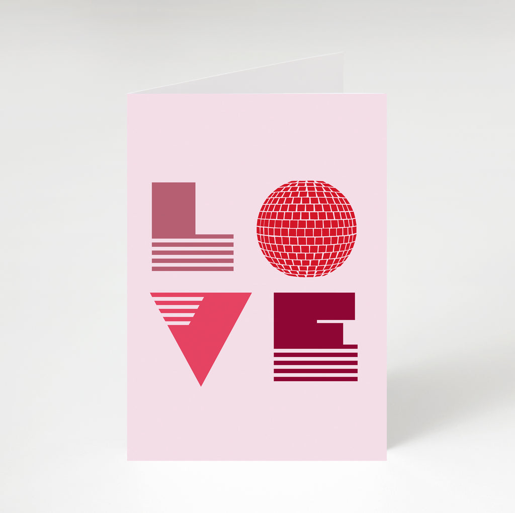 Love Is Greetings Card Pink