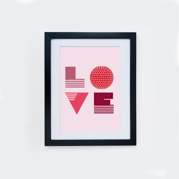 Love Is A6 Small Framed Print