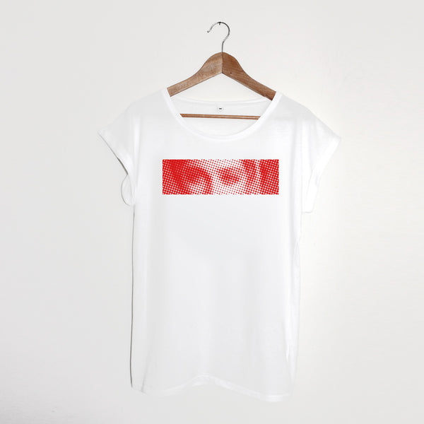 Borderline Ladies White / Red xx Small left xx