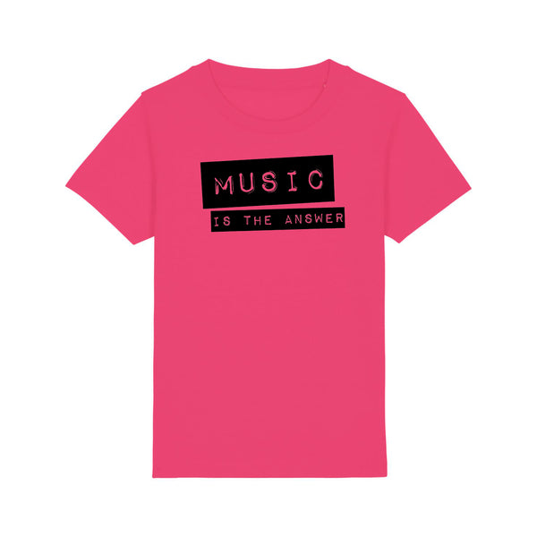 Music Is The Answer Kids White Bright Pink