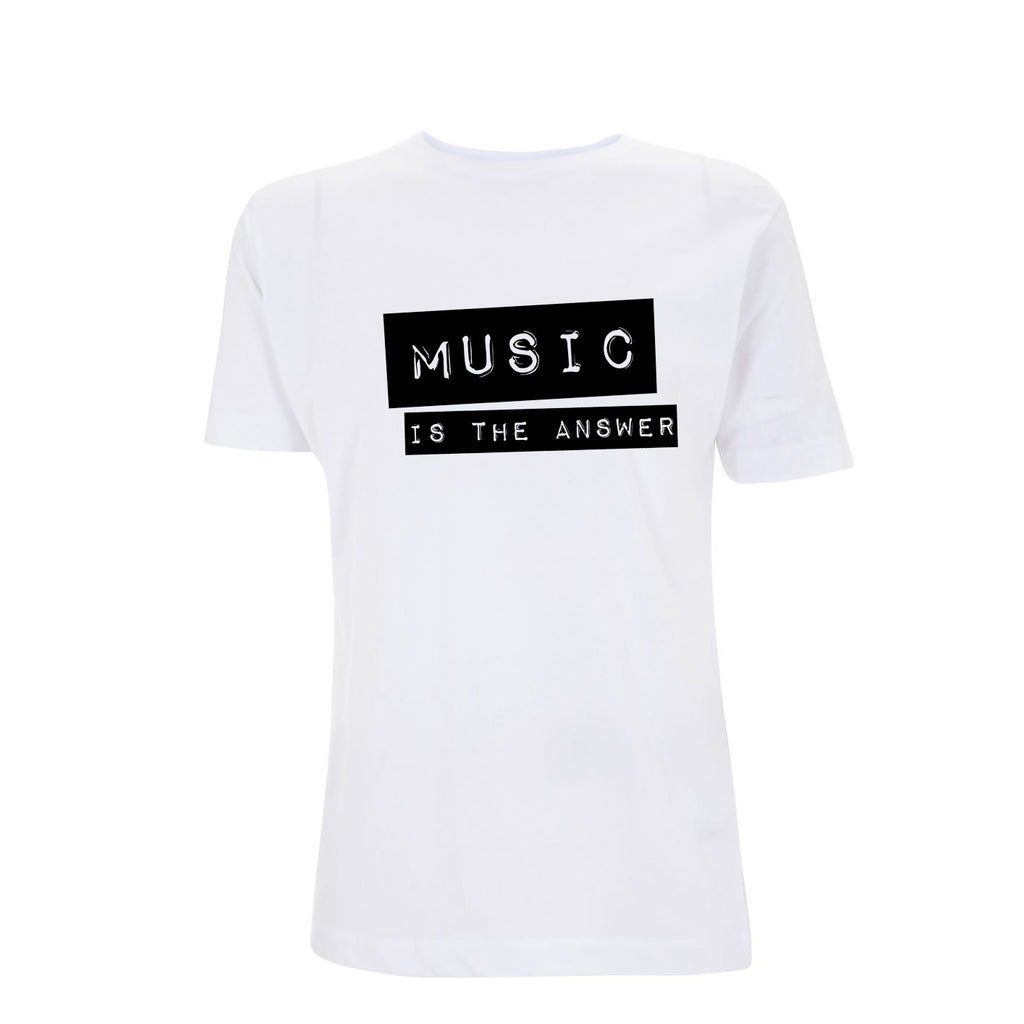 Music Is The Answer Mens Tshirt White