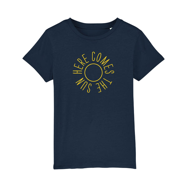 Here Comes The Sun Kids Tshirt Navy
