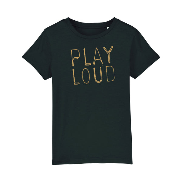 Play Loud Kids Black Tshirt