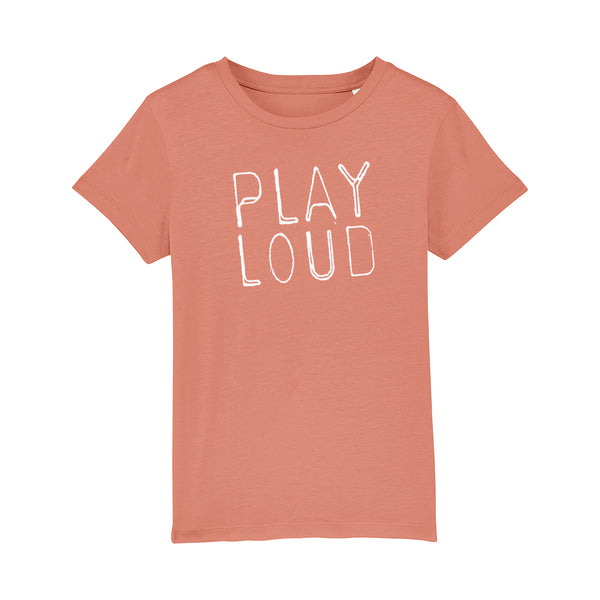 Play loud Kids Tshirt Light Rust