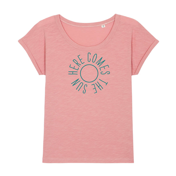 Here Comes The Sun Ladies T-shirt Blush