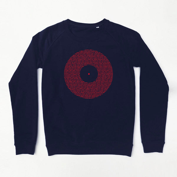 Record Ladies Sweatshirt Navy