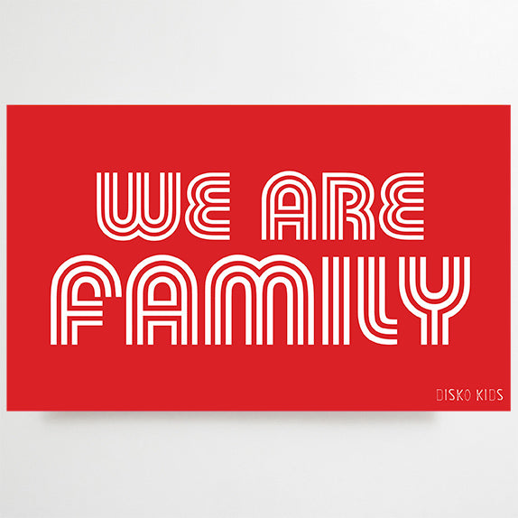 We Are Family Tea Towel Red
