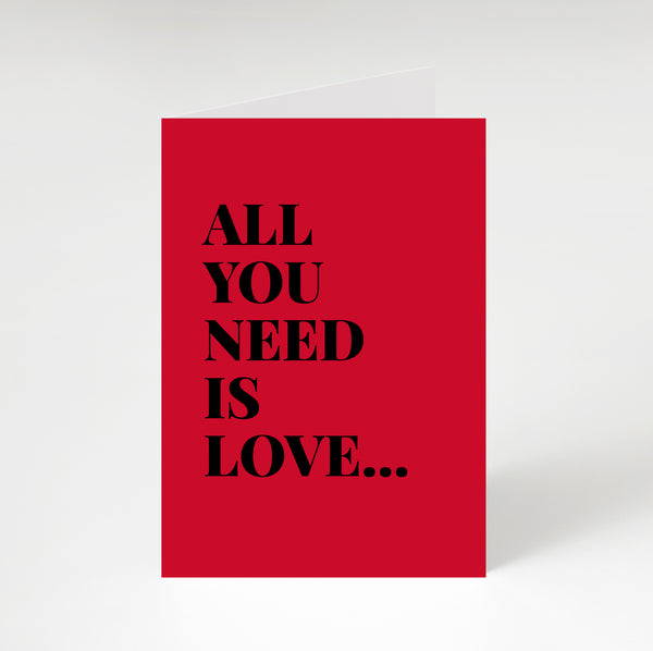 All You Need Is Love Greetings Card Red