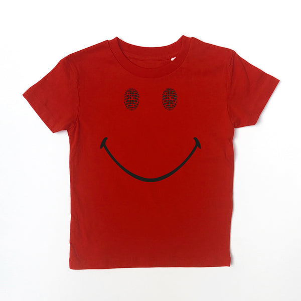 Disco Smile Kids Tshirt Red *3-4 & 12-14yrs left