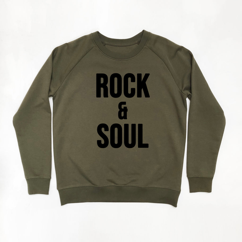 Rock & Soul Ladies Slim Fit Sweatshirt Khaki