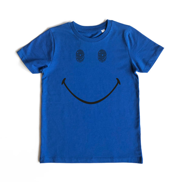 Disco Smile Kids Tshirt Blue