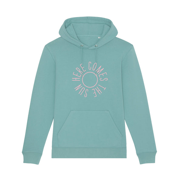Here Comes The Sun Ladies Hoodie Teal