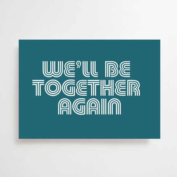 Together Again Greetings Card Teal