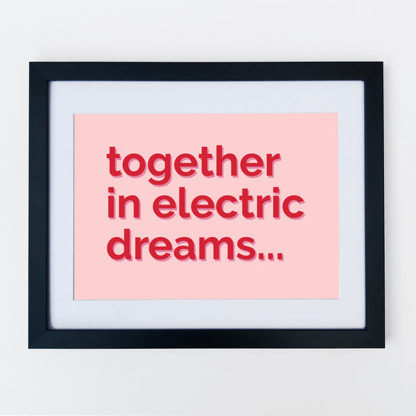 Together In Electric Dreams Print Pink & Red