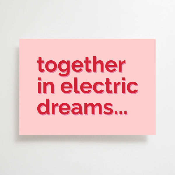 Electric Dreams Greetings Card