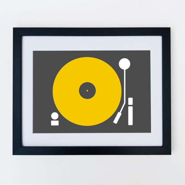 Turntable Print Yellow