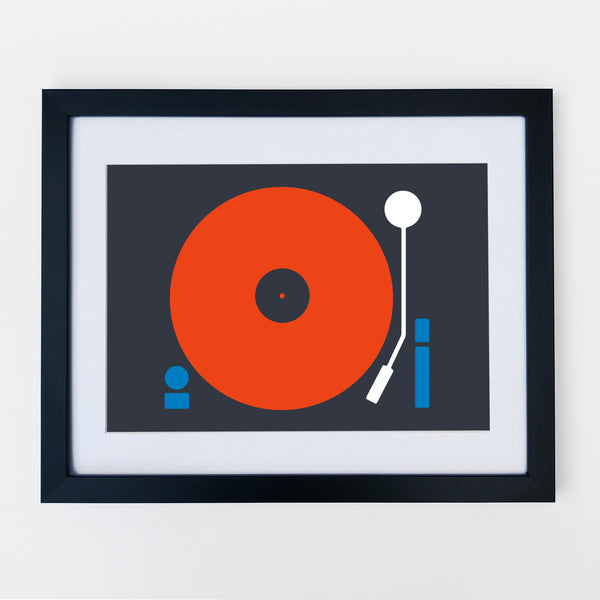 Turntable Print Red