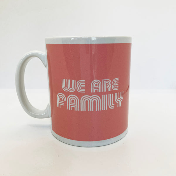 We Are Family Mug Pale Pink