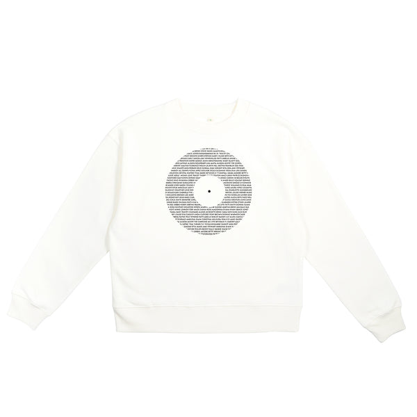 Record - Women In Music Ladies Sweatshirt Vintage White