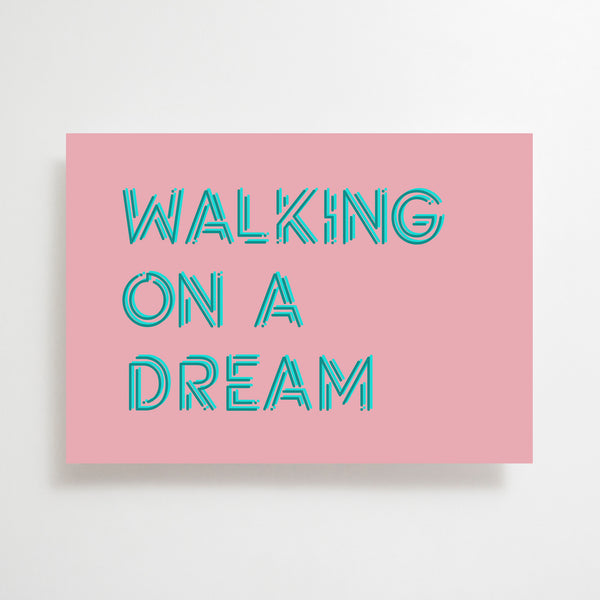 Walking On A Dream Greetings Card