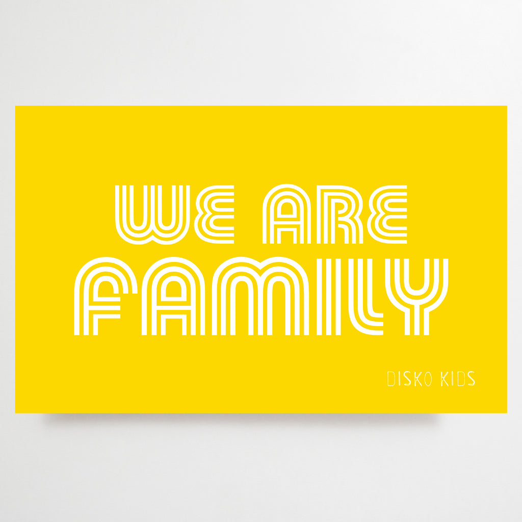 We Are Family Tea Towel Yellow