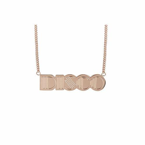 Disco Pendant 18kt Rose Gold Plated