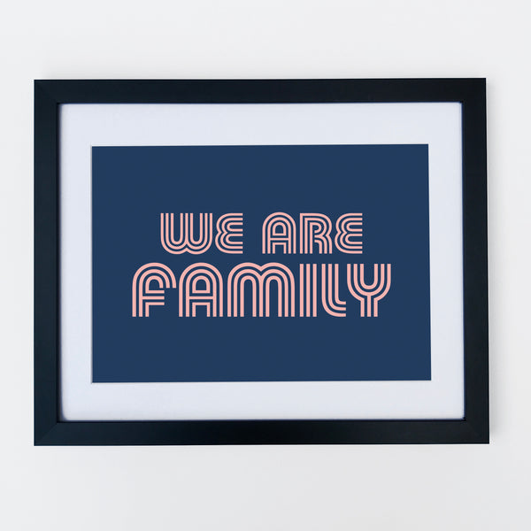 We Are Family Print Navy