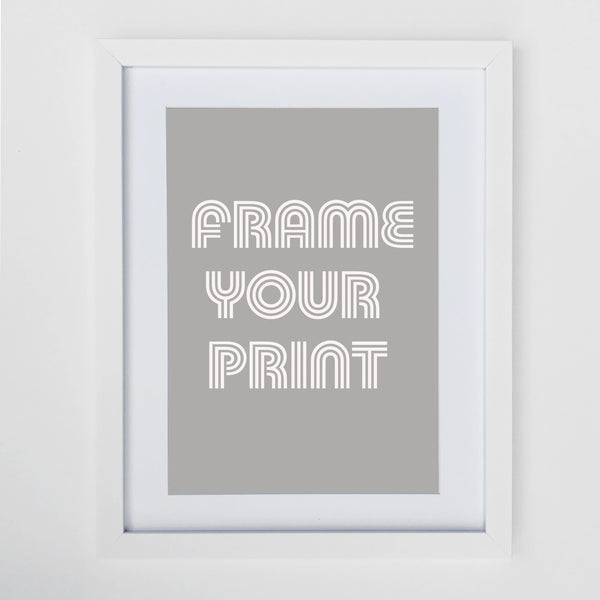 A4 White Frame with Mount