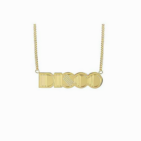 Disco Pendant 18kt Gold Plated