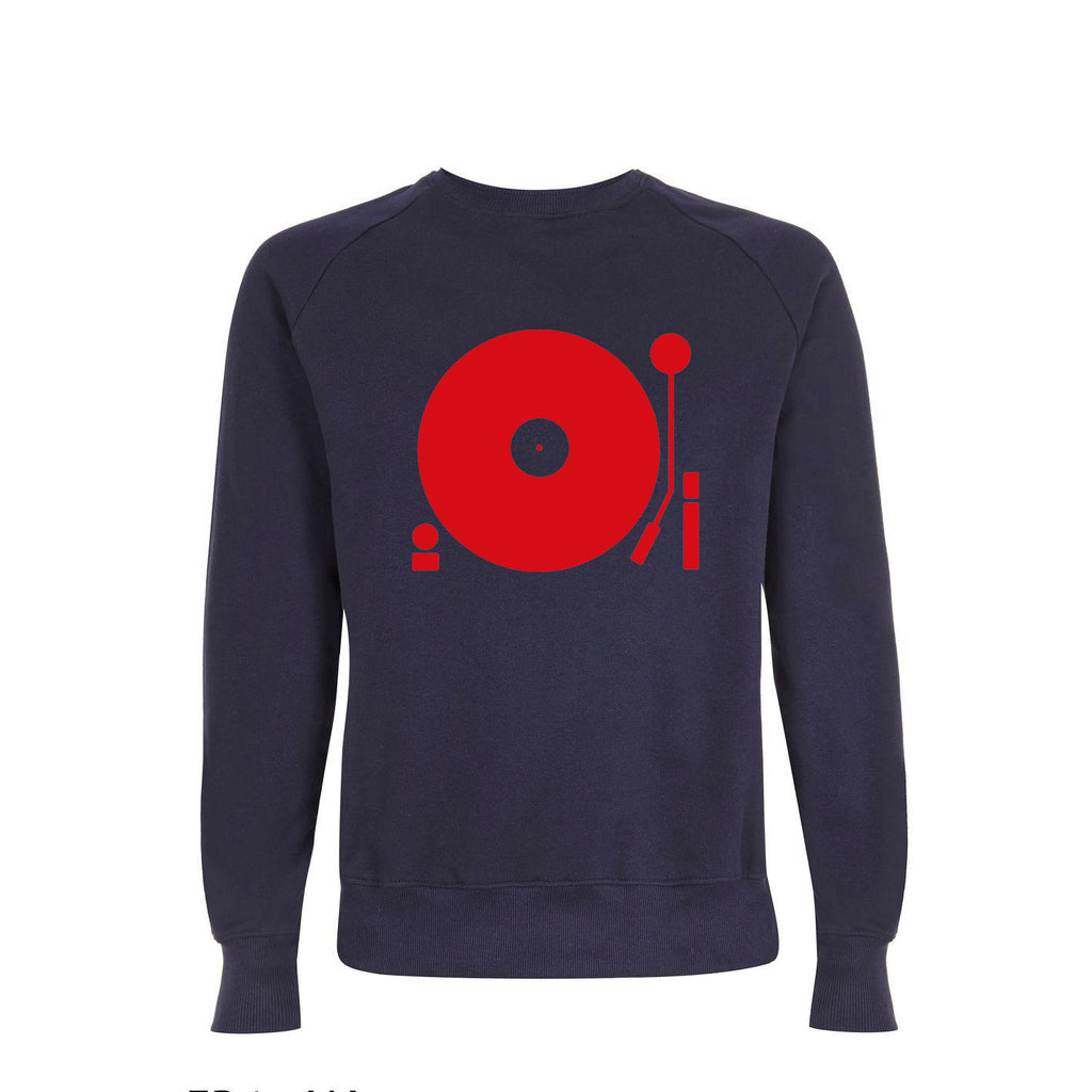 Turntable Mens Sweatshirt Navy / Red