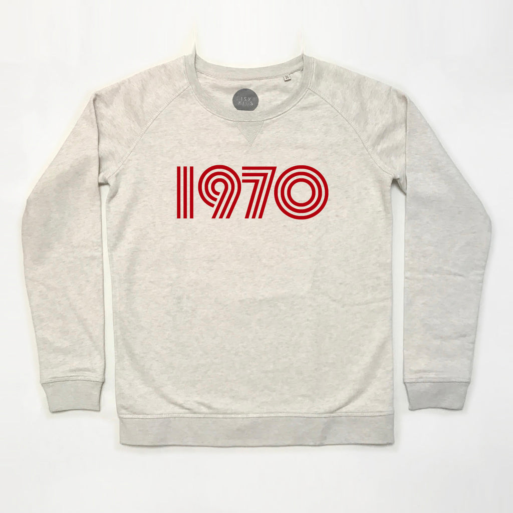 1970 Ladies Sweatshirt Cream Marl
