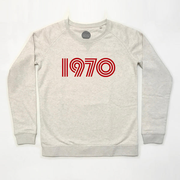1970 Ladies Sweatshirt Cream Marl xx  Xs left xx